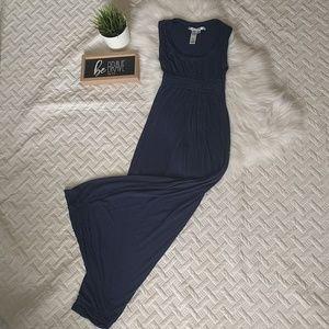 Max Studio navy blue maxi dress